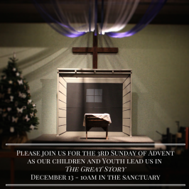 Join us for the 3rd Sunday of Advent