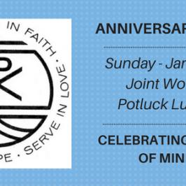 Anniversary Sunday