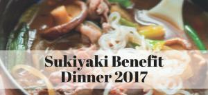 Sukiyaki Benefit Dinner 2017