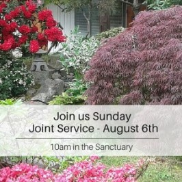 Join us Next Sunday – Aug 6th