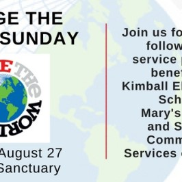 Join us Next Sunday – Aug 27th